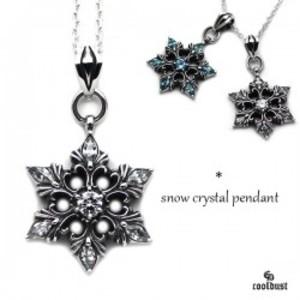 snow crystal pendant