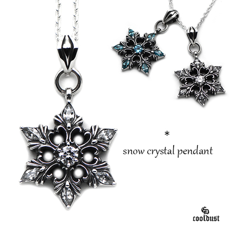 snow crystal pendant