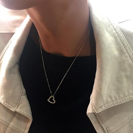 オープンハート ネックレス