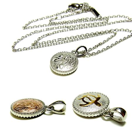 リバーシブル メダル ネックレス